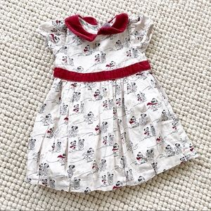Disney Baby Dress Mickey Minnie Mouse Ice-Skating